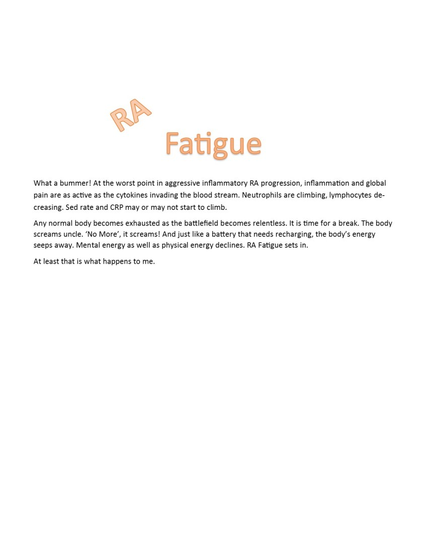 RA fatigue