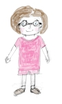 me in pink with my glasses
